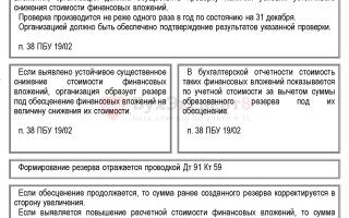 Резерв под обесценение финансовых вложений в налоговом и бухгалтерском учете: проводки по счету 59, создание и начисление, расчетная стоимость, на какую сумму формируется
