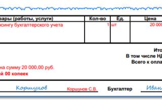 Образец счета на оплату: пример бланка и порядок выставления на предоплату