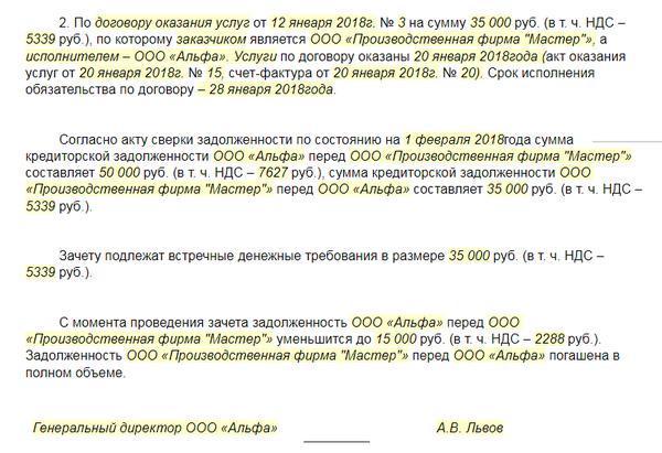 Письмо о взаимозачете между организациями: образец заявления, порядок проведения