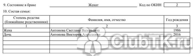 Форма №Т-2