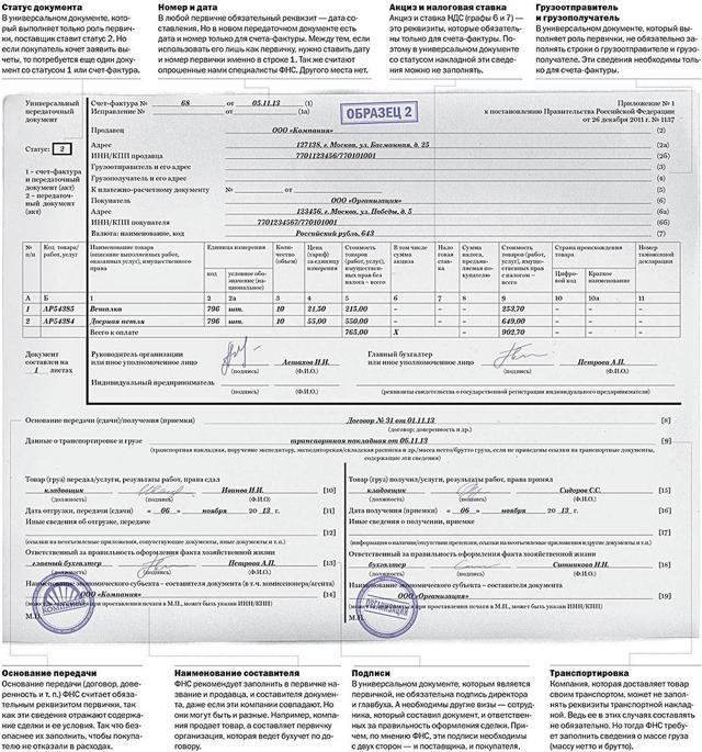 УПД (универсальный передаточный документ): когда можно применять, использование вместо акта выполненных работ