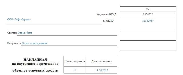 Документальное оформление движения основных средств: показатели, скачать образец карточки учета, акта списания, отчета по форме ОС-2, накладной на внутреннее перемещение объектов ОС, приказа на перемещение, акта на прием-передачу
