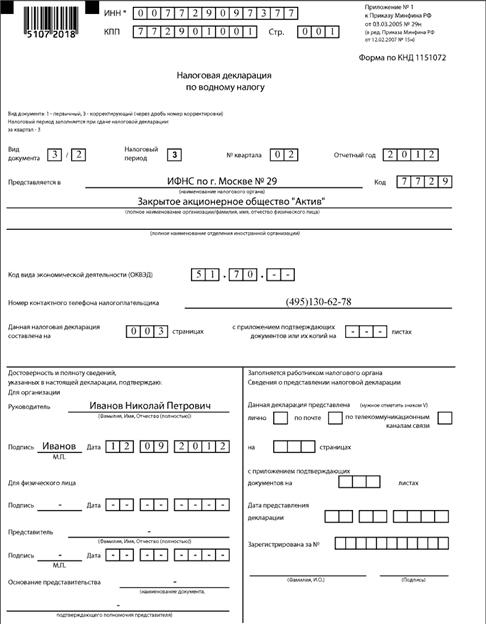 Заполнение декларации по водному налогу: пошаговая инструкция, расчёт налога, ответственность