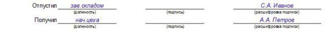 Требование-накладная по форме М-11: скачать бланк и образец, карточка выдачи инструментов, накладная по внутреннему помещению