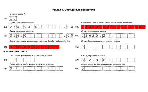 Новая форма 6-НДФЛ в 2019-2020 годах: скачать бланк  и образец заполнения в excel за 1,2,3 и 4 квартал