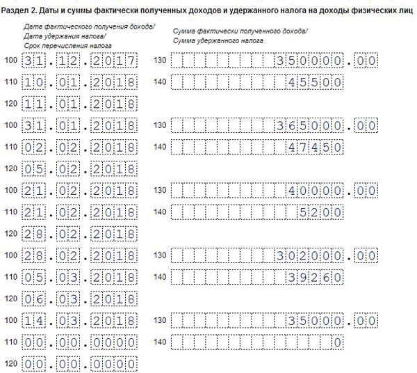 6-НДФЛ: порядок заполнения, образец оформления формы в 2019-2020 годах, примеры за 1 квартал, полугодие, 9 месяцев, год