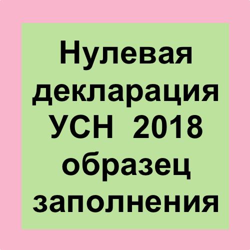 Нулевая отчетность ООО на УСН в 2019 году: образец и порядок заполнения налоговой декларации