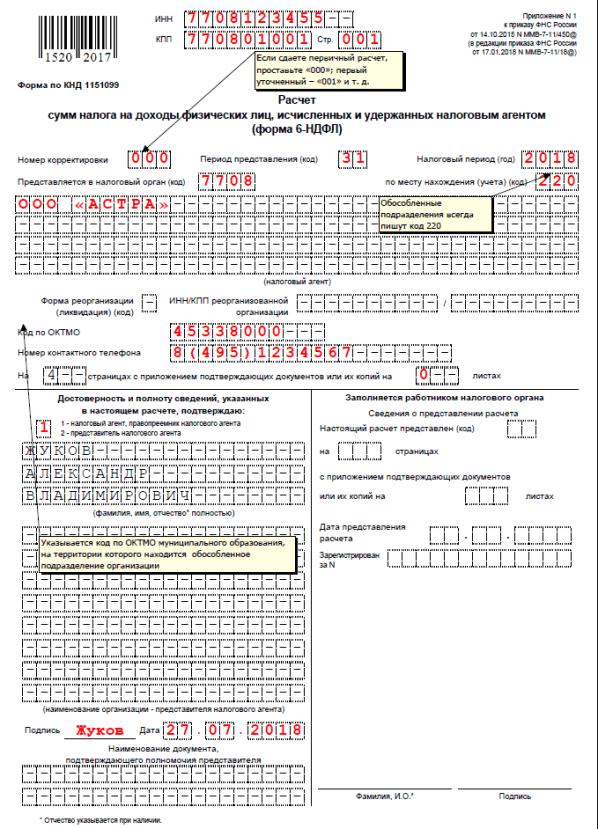 Предоставление формы 6-НДФЛ по обособленным филиалам и подразделениям: в зависимости от вида налогов и сборов, инструкция по заполнению и образец декларации, способы и сроки подачи, ответственность