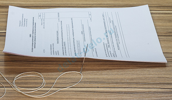 Как правильно сшивать документы нитками вручную, фото образцы