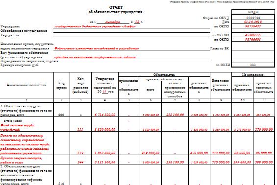 Заполнение формы 0503769 в 2019-2020 годах: пример, порядок