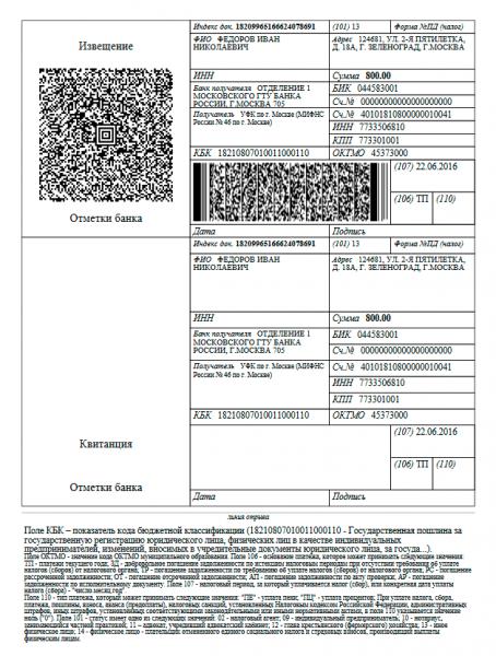 Госпошлина за регистрацию ИП в 2019-2020 годах: реквизиты и способы оплаты, образец квитанции