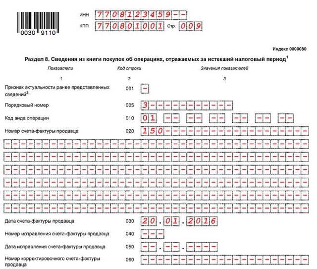Инструкция для заполнения налоговой декларации по НДС: сроки и форма подачи, новые коды, порядок заполнения по разделам, бланк